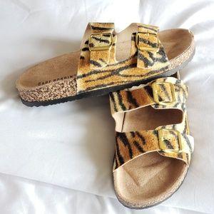 Tiger Print Footbed Sandals